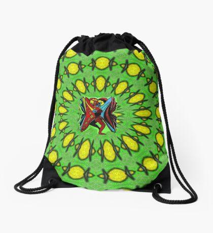 Human Butterfly Drawstring Bag