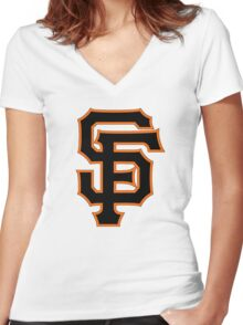 SF for SF Women's Fitted V-Neck T-Shirt