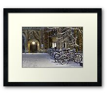Bikes at Trinity Framed Print