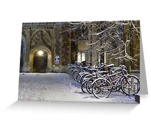 Bikes at Trinity Greeting Card