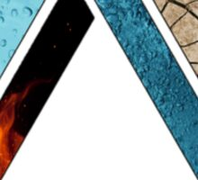 Abstract Geometry: Penrose Elements (Fire, Water, Earth) Sticker