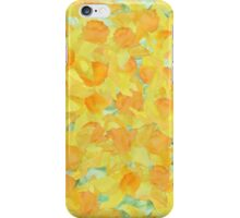 Watercolor Golden Daffodils and Matching Check Gingham iPhone Case/Skin