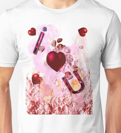 i heart u graphic front Unisex T-Shirt