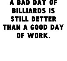 A Bad Day Of Billiards by GiftIdea