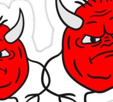Team Child angry papa young devil satan demon horns Friends Sticker