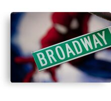 Spiderman musical on Broadway Canvas Print