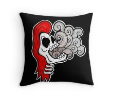 Skull girl - Let it out Throw Pillow