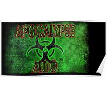 apocalypse auto sticker Poster