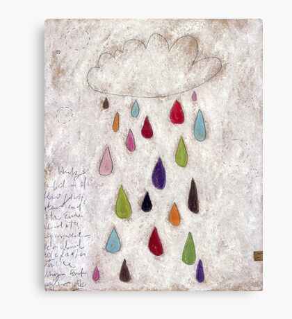 The rain cloud Canvas Print