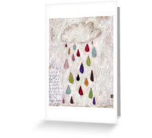 The rain cloud Greeting Card