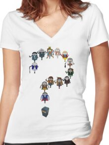 Who's Who are You? Women's Fitted V-Neck T-Shirt
