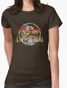 Fight like a girl...Mortal Kombat Womens Fitted T-Shirt