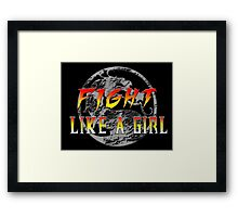 Fight like a girl...Mortal Kombat Framed Print
