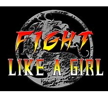 Fight like a girl...Mortal Kombat Photographic Print