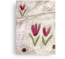 The tulip garden Canvas Print