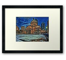 The First Church of Christ  Framed Print