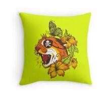 Predatory Puma Throw Pillow