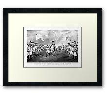 Surrender Of Lord Cornwallis At Yorktown Framed Print