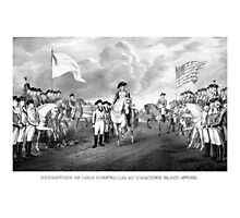 Surrender Of Lord Cornwallis At Yorktown Photographic Print
