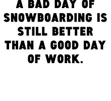A Bad Day Of Snowboarding by GiftIdea
