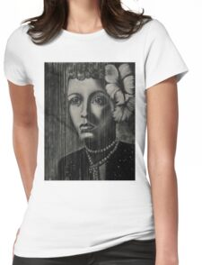 Billie Holiday - low ink Womens Fitted T-Shirt