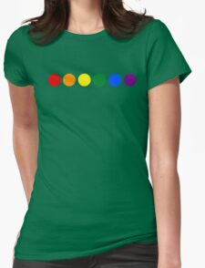 Pride polka dots Womens Fitted T-Shirt