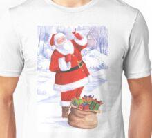 Santa and the cardinal Unisex T-Shirt
