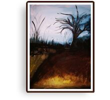 Winter wOnderland- Abstract painting landscape Canvas Print