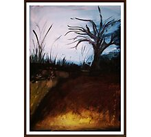 Winter wOnderland- Abstract painting landscape Photographic Print