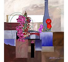 """""""Celebration"""" - First prize for flower arranging. Photographic Print"""