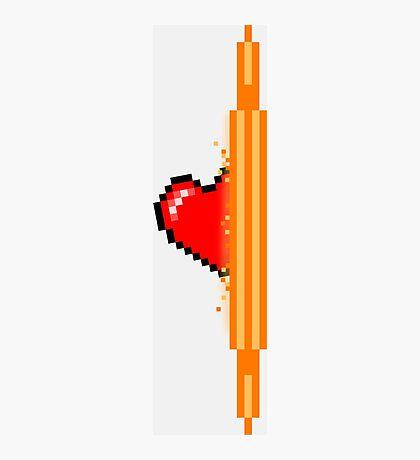 Heart through orange portal (version 1) Photographic Print
