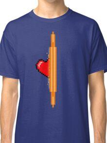 Heart through orange portal (version 1) Classic T-Shirt