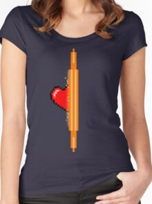 Heart through orange portal (version 1) Women's Fitted Scoop T-Shirt