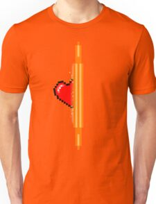 Heart through orange portal (version 1) Unisex T-Shirt