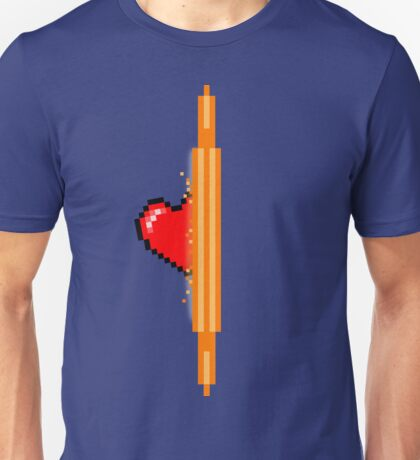 Heart through orange portal (version 1) Unisex T-Shirt