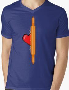 Heart through orange portal (version 1) Mens V-Neck T-Shirt