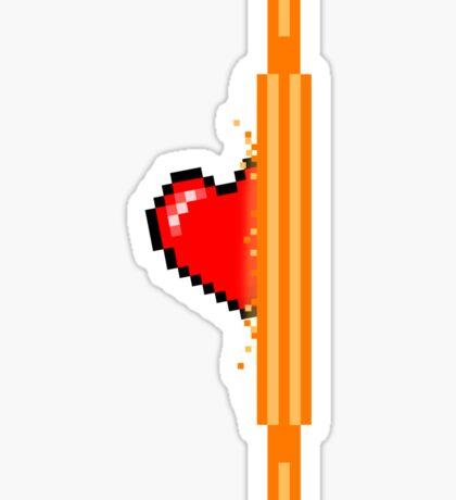 Heart through orange portal (version 1) Sticker