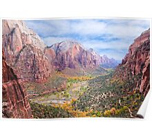 Zion Canyon National Park Poster