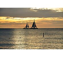 Sails in the Sunset Photographic Print