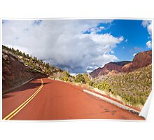Road through Kolob Canyons Poster