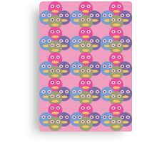 Circle of Friends Pastel Pink Abstract Canvas Print