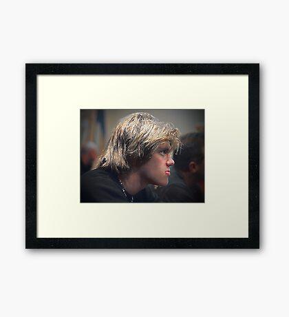 Brady (candid) Framed Print