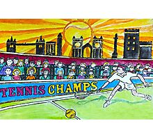 Tennis Champs Photographic Print