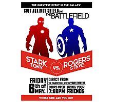 Iron Man vs Captain America Photographic Print
