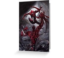 Spiderman Vs Carnage Greeting Card