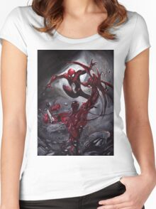 Spiderman Vs Carnage Women's Fitted Scoop T-Shirt