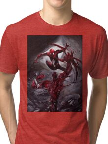 Spiderman Vs Carnage Tri-blend T-Shirt