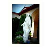 Statue of Mother Mary Art Print