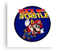 Mario - Back to the castle ! Canvas Print