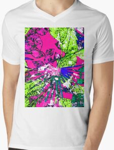 Abstract Multicolor Background Mens V-Neck T-Shirt